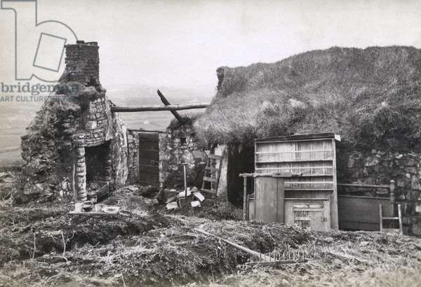 After the Bailiffs' visit, Ireland, c.1888 (albumen print)