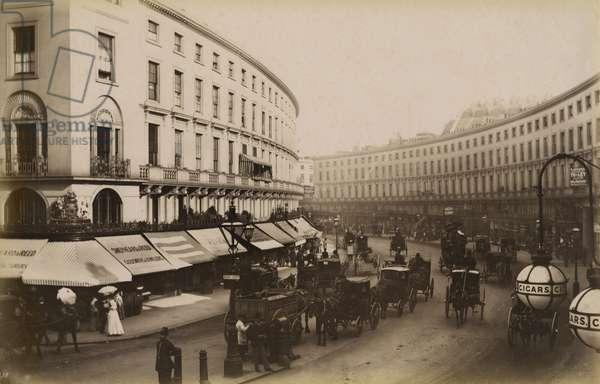 The Quadrant, Regent Street, London, c.1884 (b/w photo)