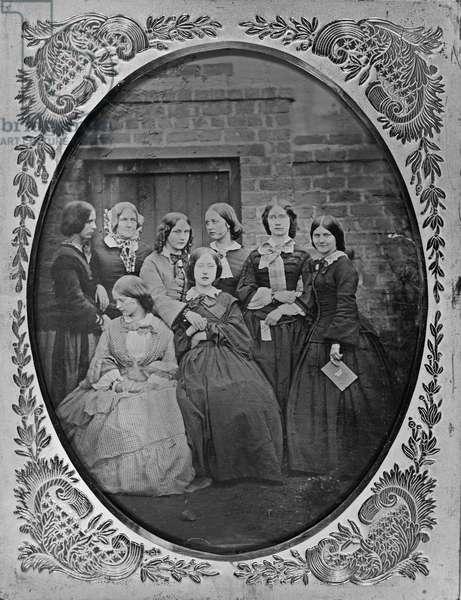 Group portrait, c.1857 (wet collodion positive on glass)