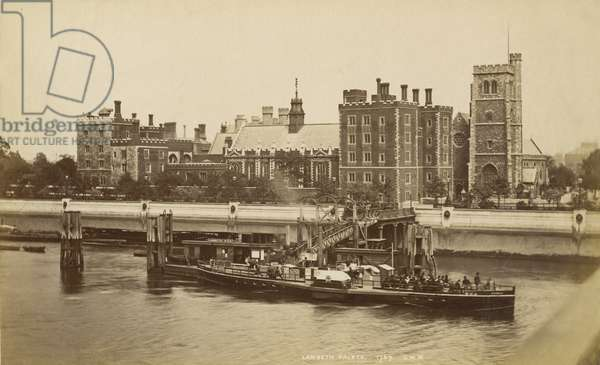 Lambeth Palace, London, c.1880 (b/w photo)