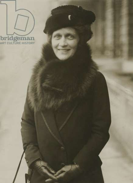 The Plymouth by-election: Lady Astor's confident smile of victory, 1919 (b/w photo)