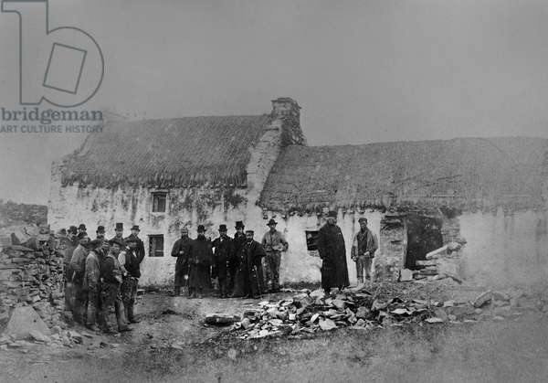 Eviction on the Olphert estate, Falcarragh, County Donegal, Ireland, 1888 (gold-toned albumen print)