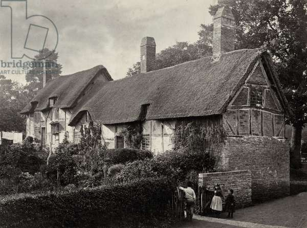 Anne Hathaway's Cottage, Shottery (b/w photo)