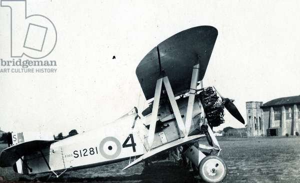 Fairey Flycatcher, No. 2 Flying Training School, Royal Air Force, Digby, Lincolnshire, 1928-30 (b/w photo)