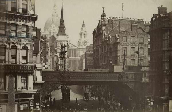 Ludgate Circus, London, c.1880 (b/w photo)