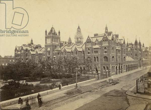 View of Columbia Market, Bethnal Green, London (b/w photo)