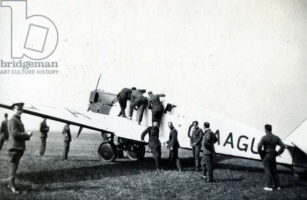 Private all-metal Junkers monoplane, No. 2 Flying Training School, Royal Air Force, Digby, Lincolnshire, 1928-30 (b/w photo)