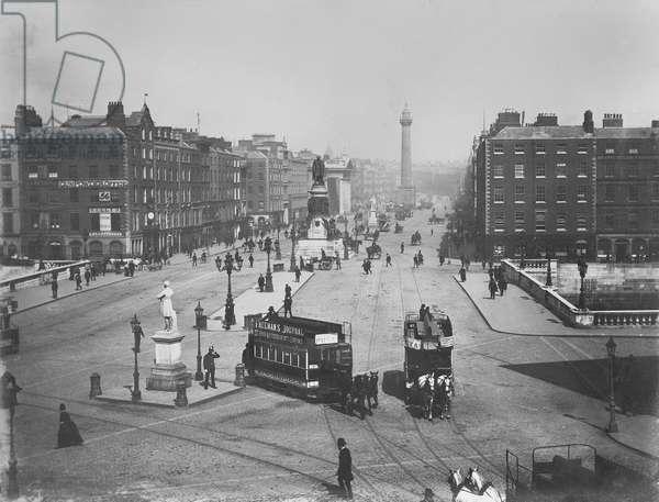 O'Connell Street, Dublin, Ireland, c.1890 (albumen print)
