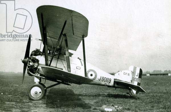 Gloster Gamecock, No. 2 Flying Training School, Royal Air Force, Digby, Lincolnshire, 1928-30 (b/w photo)