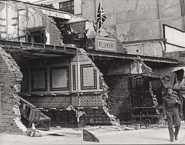 Williamson's, following a bomb attack during the Second World War, 'Kirkdale', Sydenham, London, c.1939-45 (b/w photo)