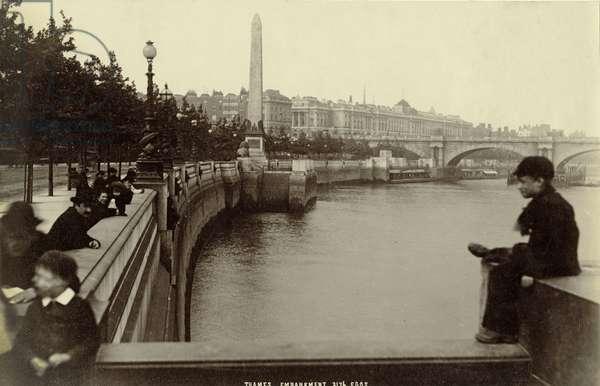 Thames Embankment, London (b/w photo)