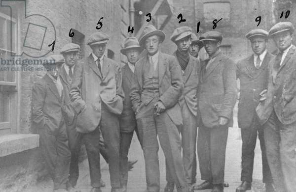 A group of British Intelligence operatives known as the Cairo gang, Dublin, Ireland, 1920 (gelatin silver developed out print)