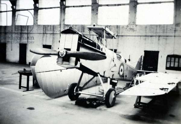 DH.9A on overhaul, No. 2 Flying Training School, Royal Air Force, Digby, Lincolnshire, 1928-30 (b/w photo)