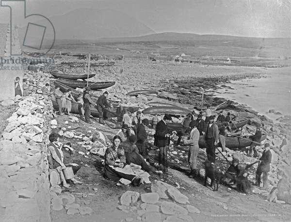 The fishery, Duagh, Achill, Ireland, c.1885 (albumen print)