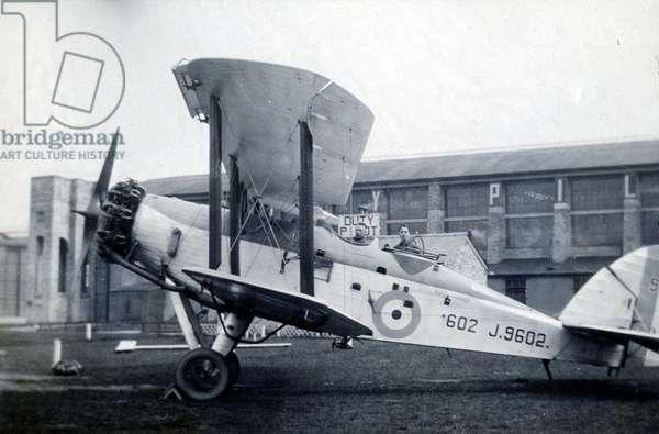 Westland Wapiti, No. 2 Flying Training School, Royal Air Force, Digby, Lincolnshire, 1928-30 (b/w photo)