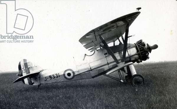 Siddeley Siskin, No. 2 Flying Training School, Royal Air Force, Digby, Lincolnshire, 1928-30 (b/w photo)