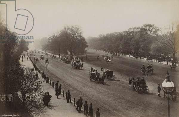 The Row, Hyde Park, London, c.1890s (b/w photo)