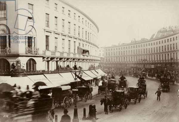 The Quadrant, Regent Street, London, c.1880 (b/w photo)