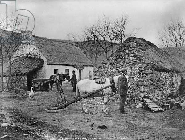 Farmyard scene, Glenshesk, County Antrim, Ireland, c.1895 (platinum print)