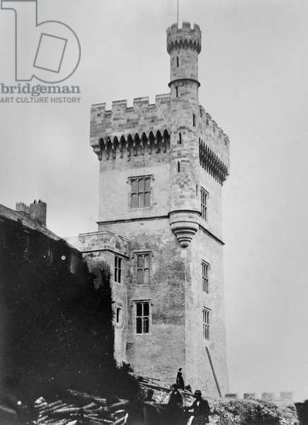 Tower at Lismore Castle, County Waterford, Ireland, c.1854 (albumen print)