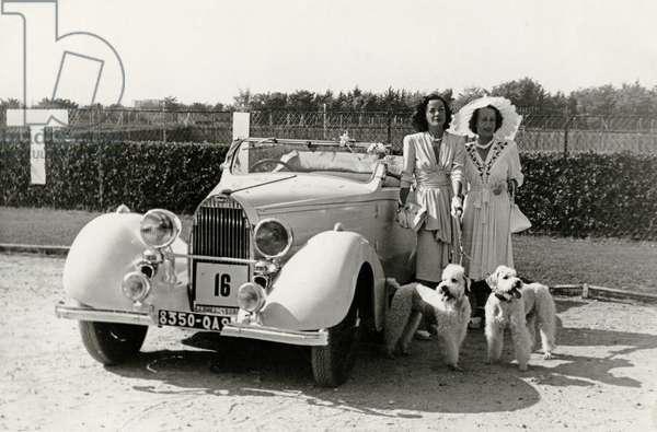 Bugatti Royale, 1930s (b/w photo)