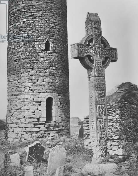 Monasterboice, County Louth, Ireland, from 'Notes on Irish Architecture' by Lord Dunraven, 1875 (carbon transfer print)