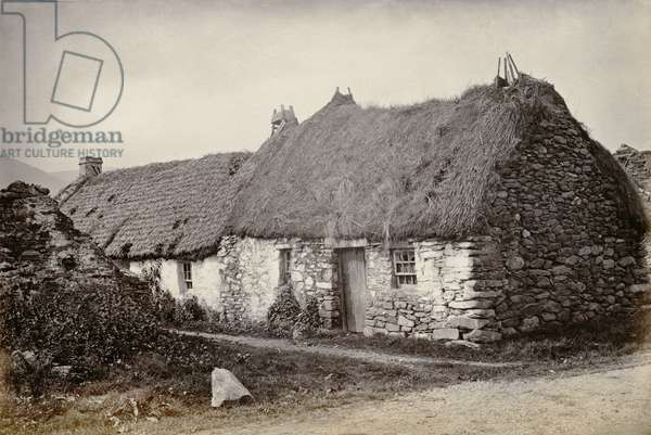 Scottish Cottages (b/w photo)