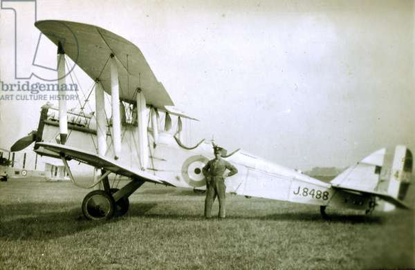 De Havilland 9A, No. 2 Flying Training School, Royal Air Force, Digby, Lincolnshire, 1928-30 (b/w photo)
