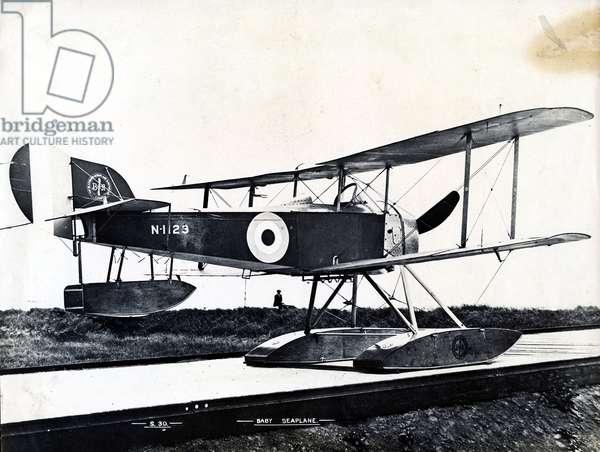 Sopwith Baby Seaplane, built by Blackburn Aircraft (b/w photo)