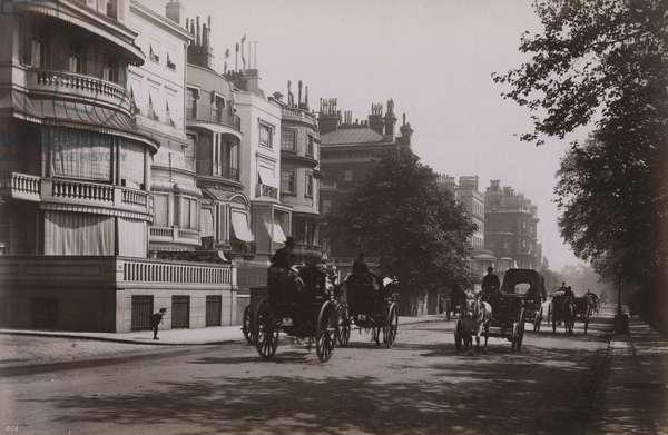 Park Lane, London (b/w photo)