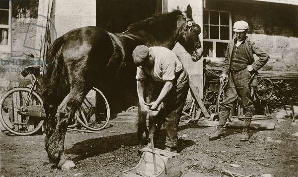The Village Blacksmith (b/w photo)