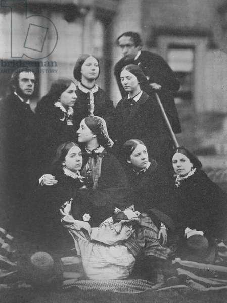 Group portrait, c.1855 (albumen print)