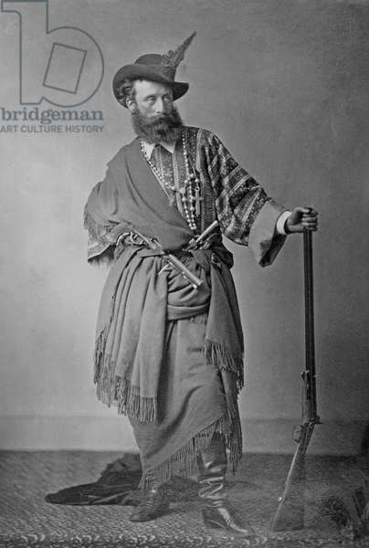 Lord Clonbrook in theatrical costume, c.1865 (gold-toned albumen print)