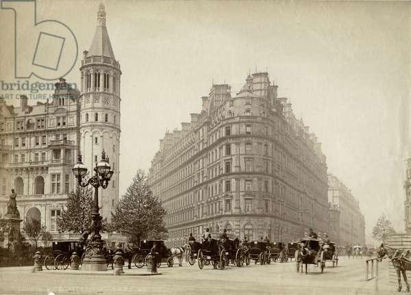 Hotel Metropole, Northumberland Avenue, London, c.1885 (b/w photo)