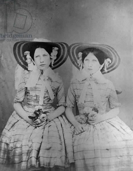 The Baldwin Sisters, c.1853 (salted paper print)