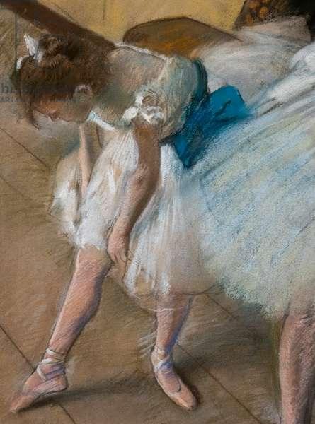 Dance exam (detail). 1880. Pastel on paper.