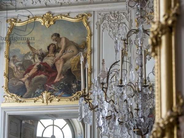 Mars and Venus. Painting by Carle Van Loo (1705-1765). Chambre du Prince, Hotel de Soubise, Paris, 18th century