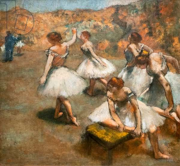 Dancers on the stage. Around 1889-1894. Oil on canvas.