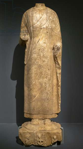 Buddha. North China, Northern Qi Dynasty (550-577) or Sui (589-618). Marble.