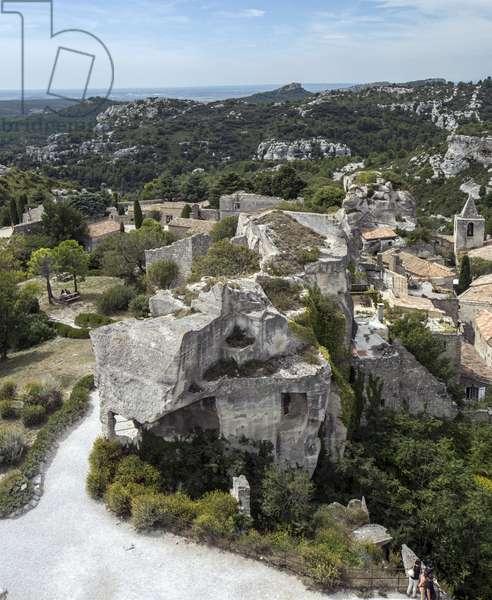 View of Les Baux de Provence (Les-Baux-de-Provence) Bouches du Rhone (Bouches-du-Rhone) Photography