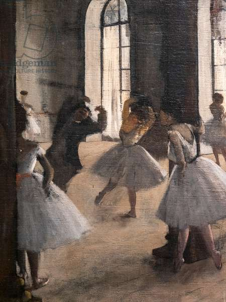 The Repetition at the Home of Dance (detail). 1873-1875. Oil on canvas.