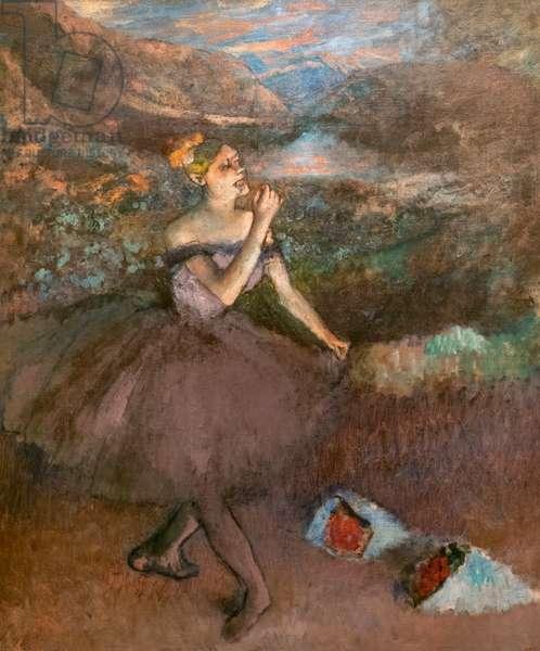 Bouquet dancer. Around 1895-1900. Oil on canvas.