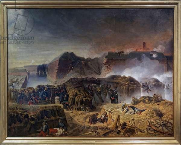 The Siege of Antwerp (Belgium) in 1832, c.1832 (oil on canvas)