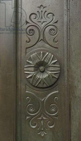 Decor in relief. Bibliotheque Saint Genevieve, Paris, architect Henri Labrouste (1801-1875), 1843-1850