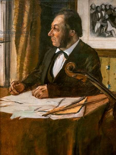 The cellist Louis-Marie Pilet (detail). Around 1868-1869. Oil on canvas.
