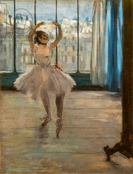 Dancer posing at a photographer's house (1874). Oil on canvas.