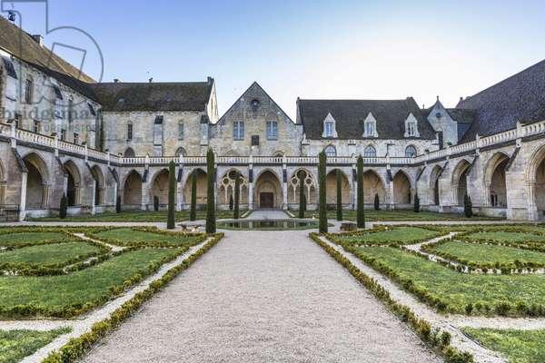 Gothic art: view of the Cistercian monastery of Royaumont (abbey) 1228-1235 Asnieres-sur-Oise (Asnieres sur Oise), Val-d'Oise (Val d'Oise)