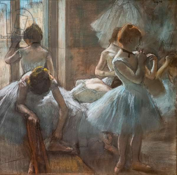 Dancers. 1884-1885. Pastel on paper.