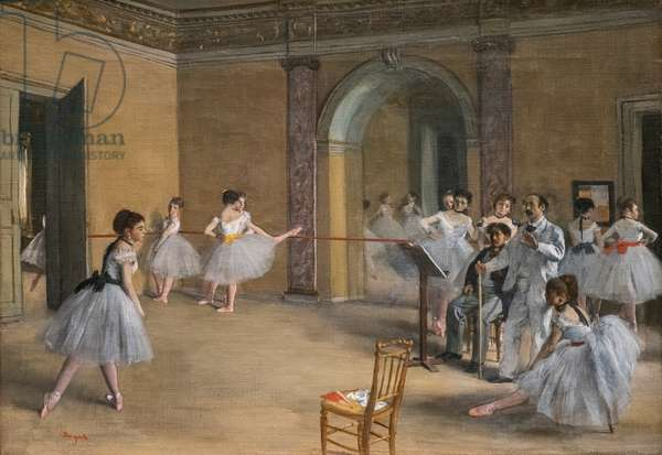 The dance lecon. 1872. Oil on canvas.