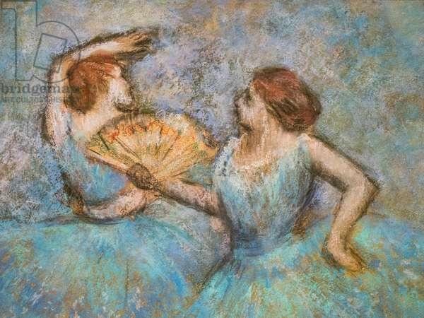 Two dancers (detail). Around 1905. Pastel on cardboard.